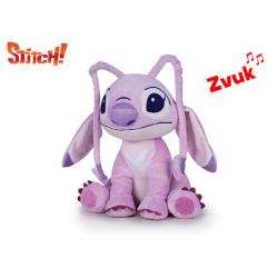 Lilo a Stitch - Angel plyšový 25cm sedící na baterie se zvukem 10m+