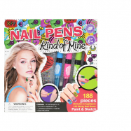 Ceruzky na nechty 4ks s nálepkami a doplnky v krabičke