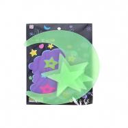 Mesiac a hviezdy 5-8cm svietiace v tme 4ks v sáčku