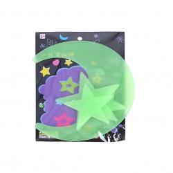 Měsíc a hvězdy 5-8cm svítící ve tmě 4ks v sáčku