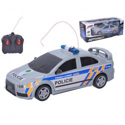 R / C auto polícia 23cm 27MHz plná funkcia na batérie v krabičke