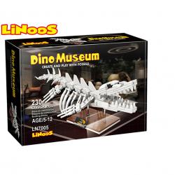 LiNooS stavebnice 230ks skelet dinosaurus mosasaurus v krabičke