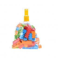 Klocki plastikowe 75 szt. w torbie