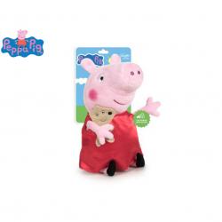 Peppa Pig - Pepina plyšová 27cm na baterie se zvukem 0m+ na kartě