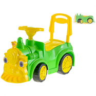 Lokomotiva odrážedlo 68x24x37cm zelená max. 30kg