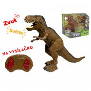 IR/C dinosaurus 36cm na batérie so svetlom a zvukom v krabičke
