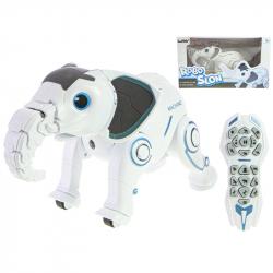 IR/C Robo-slon 33cm na batérie so svetlom a zvukom v krabičke