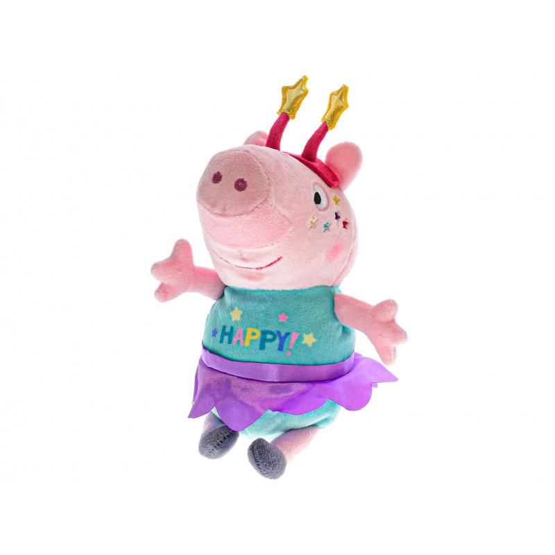Peppa Pig Happy Party 31cm plyšový s čelenkou 0m+