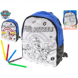 Plecak Paw Patrol do kolorowania z markerami