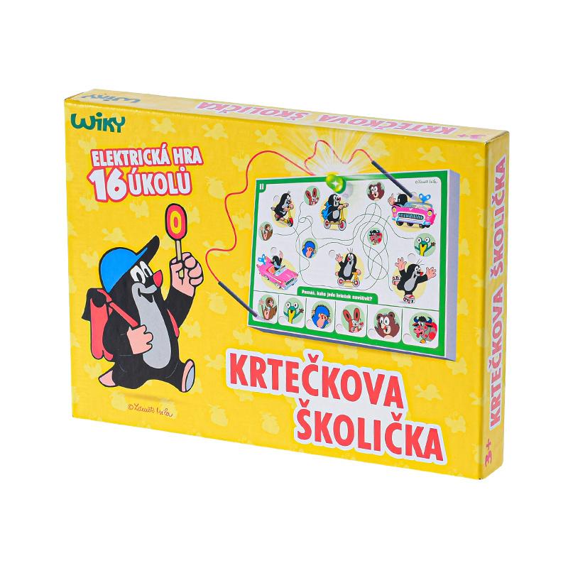 Gra edukacyjna krecik ze światłem w pudełku
