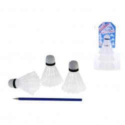 Košíčky na badminton 8cm 3ks v blistru