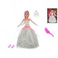 Panenka nevěsta kloubová 29cm s doplňky v krabičce