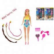 Panenka kloubová 29 cm plážová UV měnící barvu těla s příčesky a doplňky 3 druhy v krabičce