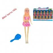 Panenka kloubová 29 cm plážová měnící barvu vlasů s doplňky v krabičce 12ks v DBX