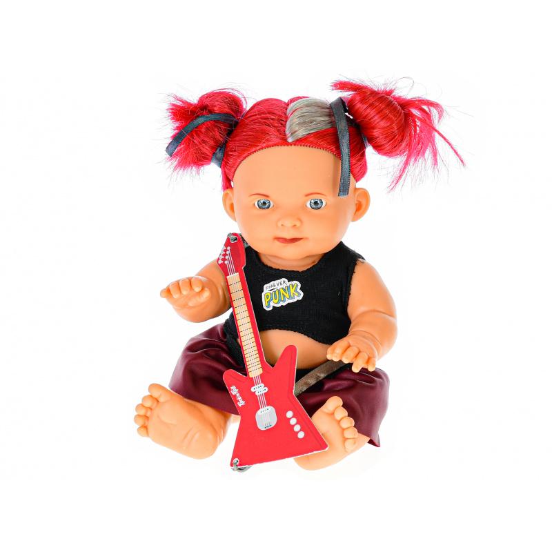 Lalka 23 cm z gitarą w pudełku