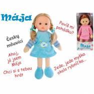Panenka Mája mrkací 42 cm na baterie česky mluvící 2barvy v krabičce