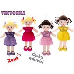 Lalka z głosem 32 cm 4 wzory Czeska wersja