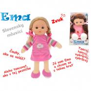 Panenka Ema mrkací 30cm na baterie slovensky mluvící 2barvy v krabičce