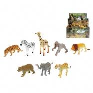 Zvířátka safari 13-20cm 8druhů 24ks v DBX