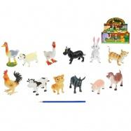 Zvieratká farma veselá 10-13cm 12druhů 24ks v DBX