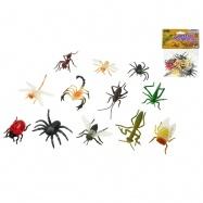 Hmyz 5cm 12druhů 12ks v sáčku