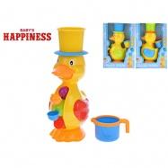 Kačenka 28 cm s mlýnkem na vodu Baby\'s Happiness 3 barvy 12m+ v krabičce