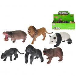 Zwierzęta safari 8-10cm, 12 wzorów. Pakowane w displayu po 12 sztuk