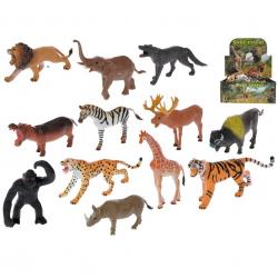 Zvieratko safari 10cm 12druhů 36ks v DBX