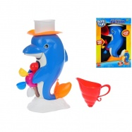 Delfín 27cm s mlýnkem na vodu 2 barvy 18m+ v krabičce