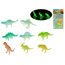 Dinosaurus svítící ve tmě 11-18cm 8ks v sáčku