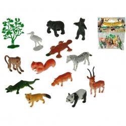 Zestaw zwierząt safari ( 13 szt. ) 12 wzorów 4-8cm w torbie