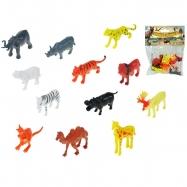 Zvieratká safari 5-6,5cm 12druhů 12ks v sáčku
