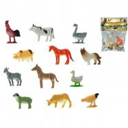 Zvířátka farma 3-5cm 12druhů 12ks v sáčku