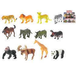 Zwierzęta plastikowe - safari 12 szt. 11-15 cm