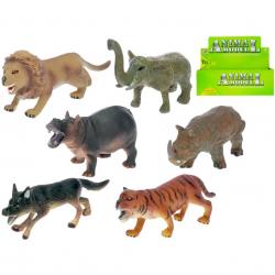 Zwierzęta plastikowe - safari 6 szt. 11-14 cm