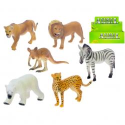 Zwierzęta plastikowe safari 10-12 cm 6 wzorów