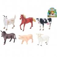 Zvieratká farma 15-20cm 6druhů 12ks v DBX