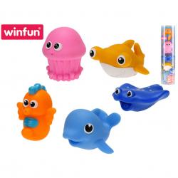 Zvířátka oceán do vany 5,5 - 6 cm stříkající vodu 5 kusů 6 m+ v tubě