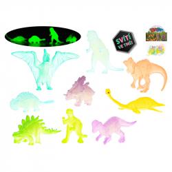 Dinozaury świecące w ciemności 4-7cm 16szt w woreczku
