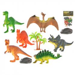 Dinozaury 12-13cm 6szt z akcesoriami w torbie