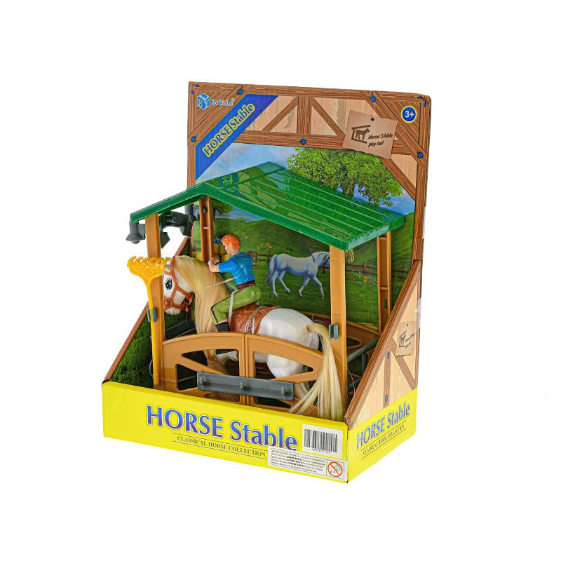Koń z jeźdzcem 14 cm