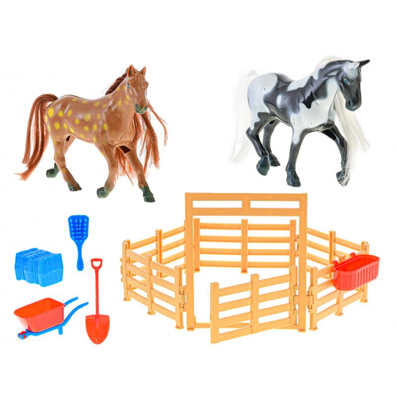 2 Konie 11 cm z akcesoriami w pudełku