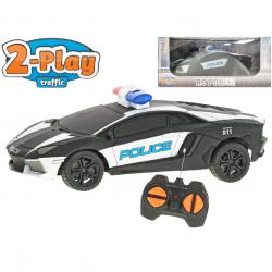 R / C auto USA policajné 15,5cm 2-Play na batérie 27MHz plná funkcia v krabičke