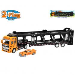 Cieżarówka transportowa 32 cm z 1 samochodem pull back w WBX