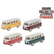 Autobus Volkswagen 1:32 13cm kov zpětný chod 4barvy 12ks v DBX