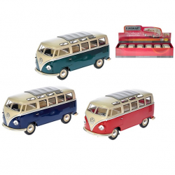 Autobus Volkswagen 1962 kov 1:24 voľný chod 3barvy 6ks v DBX