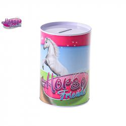 Horse Friends pokladnička 8,5x12cm kov v sáčku
