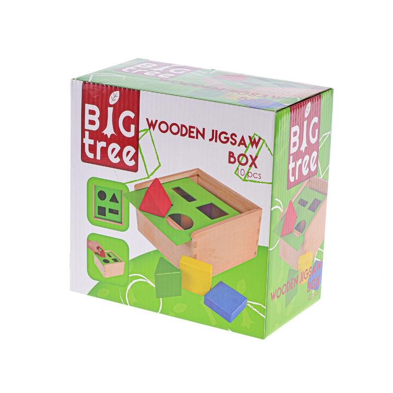 Zestaw drewniany klocków edukacyjny 18x18x10 cm w pudełku
