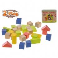 Kocky drevené 50ks 2-Play 12m + v vedre