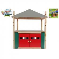 Drewniana stodoła 1:32 31,5x31,5x33cm w pudełku